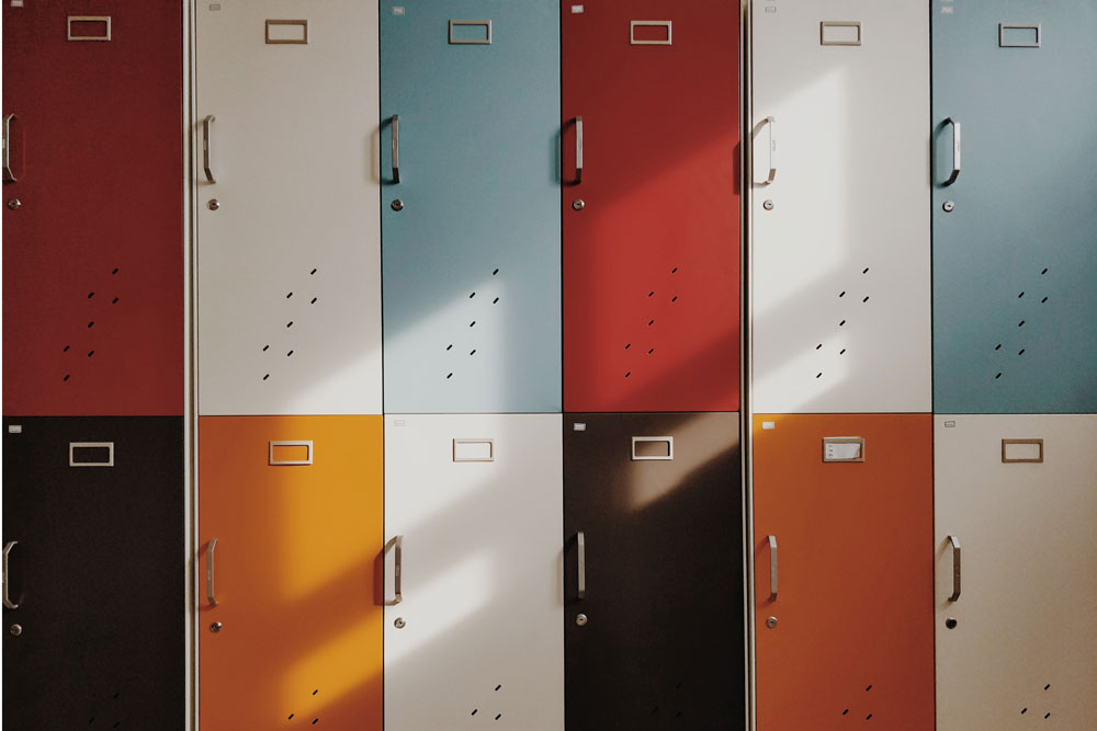 Lockers a Background Image