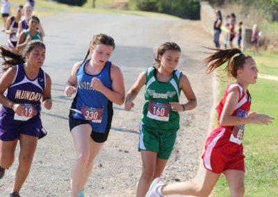 Windthorst Junior High School Girls Track Team Running