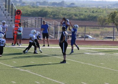Windthorst Junior High School Football Players on Field