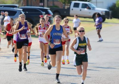 Windthorst Junior High School Track Team Running