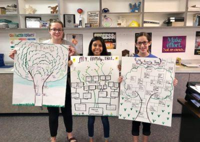 3 Windthorst Junior High School Students Showing Their Work